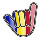 NO WORRIES Hand With Romania Romanian Country Flag Motif External Vinyl Car Sticker 105x100mm